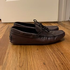 Tods Brown Leather Gommino Driving Moccasins